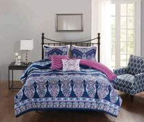 hometrends Chevron 5 Pieces Comforter Set - Double/Queen