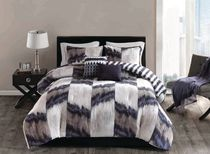 hometrends Ikat Chevron 5 Pieces Comforter Set - King