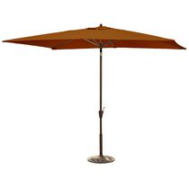 Island Umbrella Adriatic 6.5-ft x 10-ft Rectangular Terra Cotta Olefin Market Umbrella