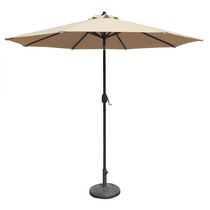 Island Umbrella Mirage 9-ft Octagonal w/ Auto-Tilt Champagne Olefin Market Umbrella