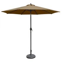 Island Umbrella Mirage 9-ft Octagonal w/ Auto-Tilt Stone Olefin Market Umbrella