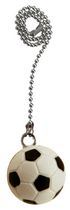 Atron Electro Industries Soccer Ball 12 Inch Chrome Fan Pull Chain