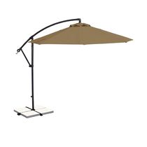 Island Umbrella Santiago 10-ft Octagonal Stone Olefin Cantilever Umbrella
