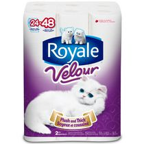 Papier hygiénique VelourMC de ROYALE(MD)