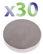 Exian Button Battery 1.5V #389A/389/LR1130/LR54/G10/189 - Pack of 30