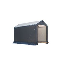 "Shed-in-a-Box  6x10x6'6""/18x3x2 m Peak Style Storage Shed- Gray"
