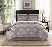 hometrends Dot Damask 8 Pieces Bed-In-A-Bag - Double