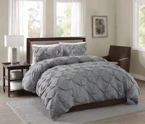 hometrends 3pcs Pintuck Duvet Cover Set - Double/Queen