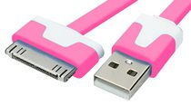 Exian 30 Pin to Flat USB Cable Pink
