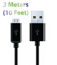Exian Micro USB to USB Flat Cable - Black
