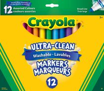 Crayola Marqueurs à trait large Ultra Clean lavables