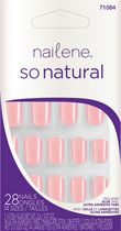 Ongles artificiels colorés So Natural de Nailene Rose vif