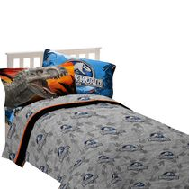 Ensemble de draps pour lit une place « Attraction dino » Monde Jurassique d'Universal Studios Home Entertainment