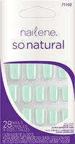 Ongles artificiels colorés So Natural de Nailene Mint High Gloss