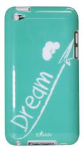 Exian TPU Case for iPod Touch 4 - Dream White on Teal