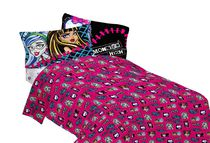 Ensemble de draps pour lit simple « All Ghouls Allowed » de Monster High