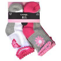 George Infant Girls Crew Socks