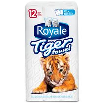 ROYALE Tiger Towel  Handy Half Sheets Paper Towels