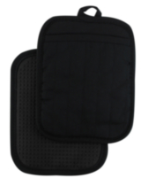 Hometrends Potholder with Silicone Black