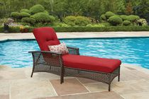 hometrends Tuscany Wicker Lounge Chair Red