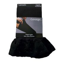 George Fashion Thigh High Basic Tights