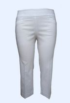George Women Pull On Bengaline Comfort Capris White 4