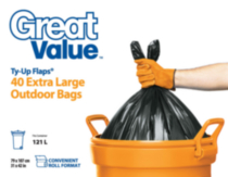 Great Value Ty-Up Flaps Extra Large Outdoor Garbage Bags