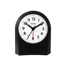 Elgin Analog Black Battery Operated Alarm Clock