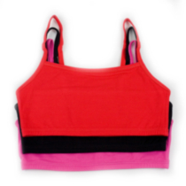 Fruit of the Loom, Spaghetti Strap Sport Bra Red Hot/White/Black 34