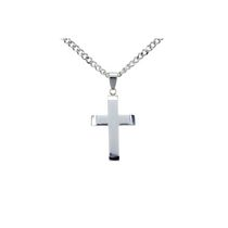 Men's Stainless Steel Cross Pendant with Chain