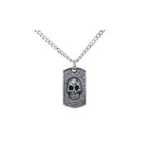 Men's Stainless Steel Skull Pendant with Chain