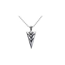 Men's Stainless Steel Arrow Pendant with Chain