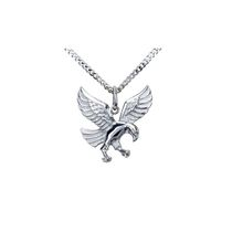 Men's Stainless Steel Eagle Pendant with Chain