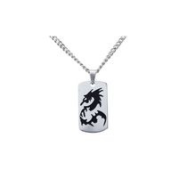 Men's Stainless Steel Dragon Pendant with Chain