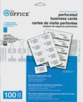 @the OFFICE™ Perforated Business Cards - 18834 -White - Ink Jet