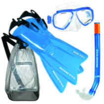 US Divers Java / Tonga / Rip, Jr. Mask, Snorkel, and Fins Set