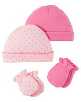 Child of Mine made by Carter's Girls' Caps and Mittens, Pack of 4