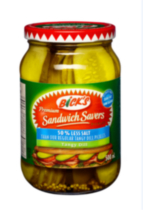Bick's® Sandwich Savers® 50% Less Salt Tangy Dill Pickles