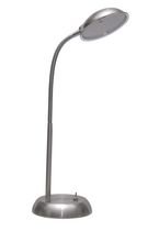 LED Brushed Steel Desk Lamp