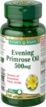 Nature's Bounty Evening Primrose Oil 500mg 100 Capsules