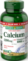 Nature's Bounty Absorbable Calcium plus Vitamin D3 1200 mg Softgels