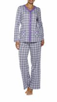 George Women's Long Sleeve V-Neck Pyjama Set LILAC L/G