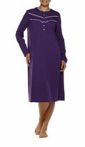 George Women's High Neck Long Sleeve Gown Purple XL/TG