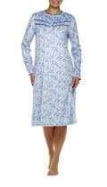 George Women's Fleece High Neck Long Sleeve Gown Blue L/G