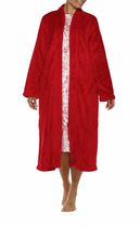 George Women's High Collar Long Zip Robe Red 3XL