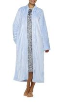 George Women's High Collar Long Zip Robe Blue 1XL
