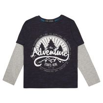 George British Design Boys' Adventure Dual Sleeve T Shirt 8