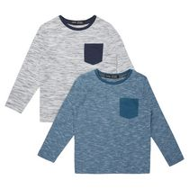George British Design Boys' 2 Pack Long Sleeve T Shirts 10