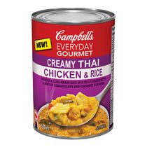 Campbell Everyday Gourmet Creamy Thai Chicken & Rice Soup