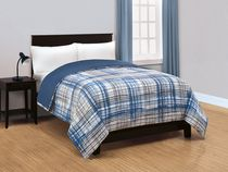 Mainstays Plaid Cotton Blend Comforter Twin